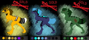 Baptor Adoptables~CLOSED~(also info about specie) by Drawotion
