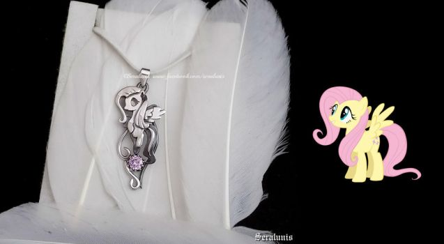 'Fluttershy', sterling silver pendant by seralune