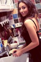 Diana_doing the dishes by favouriteflavor
