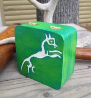 Handpainted Trinket Box - Uffington White Horse by TarpanBeadworks