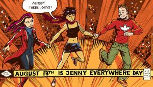 Jenny Everywhere and friends by Cosmic Beholder by TheCosmicBeholder