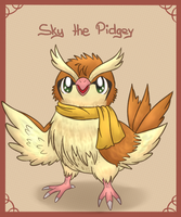 Sky the Pidgey by fuwante-chan