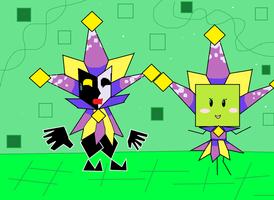 Mimi masquerading as Dimentio by PercevalCreation