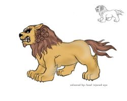 lion colour sketch by injured-eye