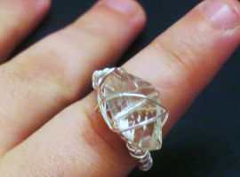 light pink glass ring by faranway