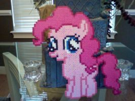 Huge Perler Bead Filly: Pinkie Pie by Perler-Pony