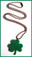 Green Clover Necklace by cherryboop