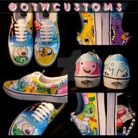 Adventure time hand painted custom Vans by VeryBadThing