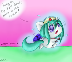 Ghosty nurse to rescue by SpectralPony