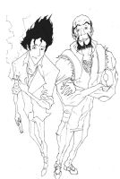 Cowboy Bebop - Spike and Jet by WinstonWilliams