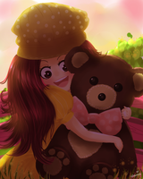 With Teddy by eunieree
