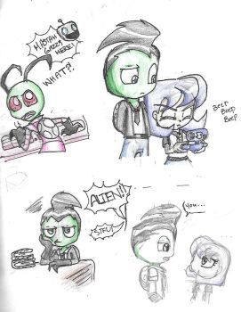 Invader Zim Sketches by FoxySerriaAngel