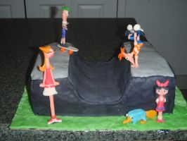 Phineas + Ferb Cake by SarahMame