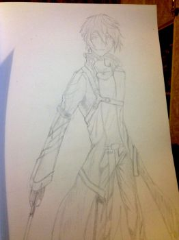 Kirito Sketch complete by Latino157