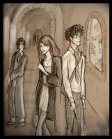 Lily, James and snape by HILLYMINNE