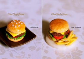 Burger (Before and After) by monpuchikissa
