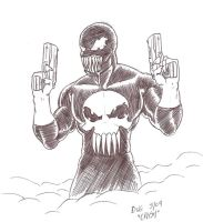 Symbiote Punisher by Crash2014