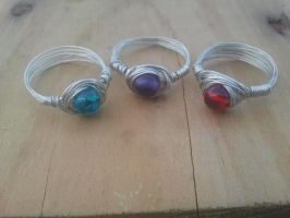 second set of rings by WyckedDreamsDesigns
