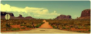 Road to Monument Valley by Erinti