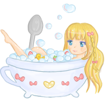 Teacup bathtime by steffne