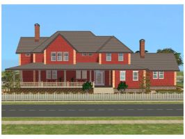 Sims 2 Red Family House by RamboRocky