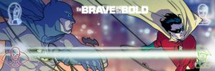 The Brave and The Bold banner for Blastoff Comics by elena-casagrande