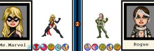 AvsX - Ms. Marvel vs. Rogue by GEEKINELL