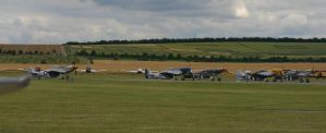 a hole load of p51s taking off by Sceptre63