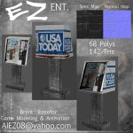 USA Today newspaper stand by EZENT