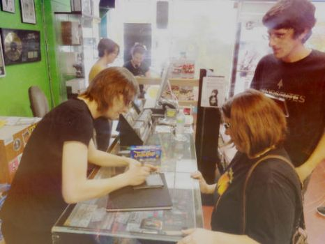 Steven Wilson Meet and Greet Daddy Kool Records by lady-serena