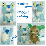 Froakie gen 6 Pokemon starter plush by scilk
