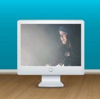 Monitor PNG con GIf Adentro para Xwidget by TUTORIALESPSCPS