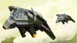 Sparrow Dropship by canadianxeno
