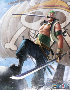 One Piece: Roronoa Zoro by steven-donegani