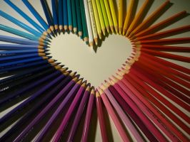 A heart of pencils by Saphirylis