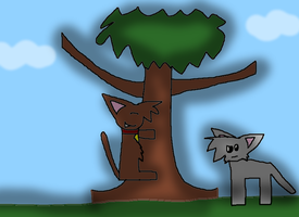 Me Hugging The Tree by LadyCatgirl