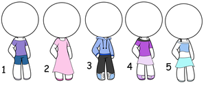 Adoptable Clothes|basic|Random|Free|CLOSED by xKittyLover4892x
