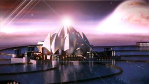 Lotus temple 3d concept by GDSWorld