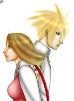 Yuna and Cloud by Porcelain-Requiem