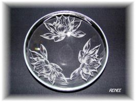 Water Lily Glass Dish by jasmin7