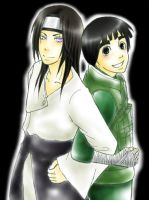 Neji and Lee by MIUX-R