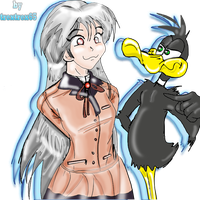 kanade Vs Daffy Duck by trextrex65