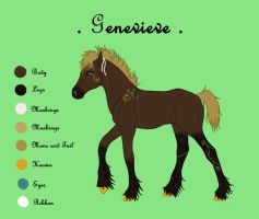 Genevieve Reference by harlequin-wondercat