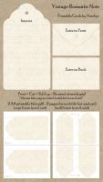 Vintage Romantic Note - Printable by Ninelyn