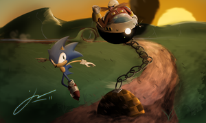 Sonic The Hedgehog by Jord-UK