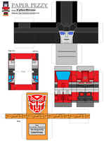 Paper Pezzy- Sideswipe by CyberDrone
