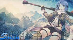 Sword Art Online II Sinon Wallpaper by Eggmond