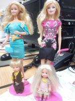 1980 Barbie and 2013 Barbie dolls by seawaterwitch