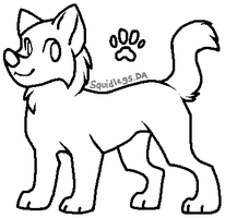 Free Canine Lineart by Hazelmere
