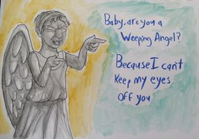Cheesy Weeping Angel valentine by TheBlueChimera